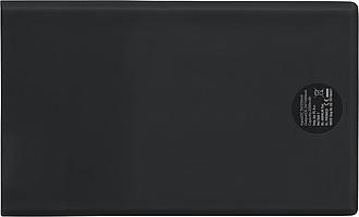 Powerbanka velikosti kreditní karty, kapacita 2000 mAh, černá