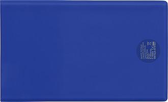 Powerbanka velikosti kreditní karty, kapacita 2000 mAh, modrá