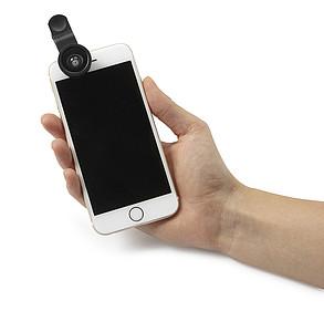 Sada dvou objektivů na mobilní telefon, rybí oko a širokoúhlý objektiv