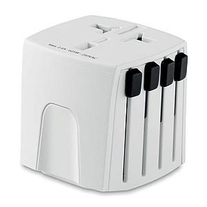 SKROSS Univerzální cestovní adaptér s dvěma póly, bílý