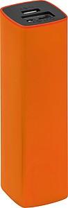Powerbank s kapacitou 2200mAh, v pouzdře, oranžová