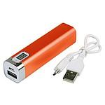 Powerbanka s kapacitou 2200mAh a ukazatelem nabití, oranžová