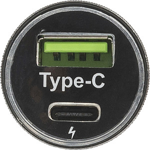 MISTRETA Adaptér do autozásuvky s USB a USB-C portem