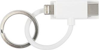Nabíjecí kabel s kroužkem na klíče