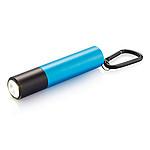 Powerbanka 2200mAh s LED svítilnou a karabinou, modrá
