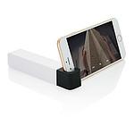STANDBANK Powerbanka 2200 mAh se stojánkem na telefon, bílá/černá