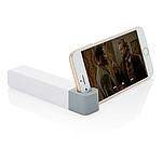 STANDBANK Powerbanka 2200 mAh se stojánkem na telefon, bílá/šedá