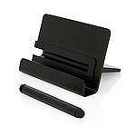 Hliníkový stojan na telefon s dotykovým perem, černý
