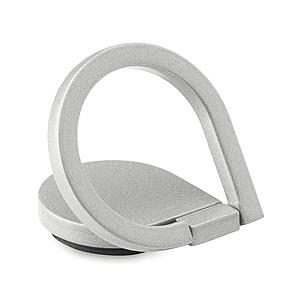 Držák na telefon ve tvaru prstenu z matné zinkové slitiny, stříbrný