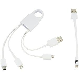 Nabíjecí kabel 5 v 1, bílá