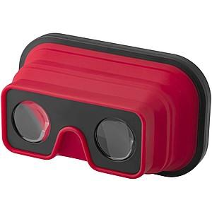 Skládací silikonové brýle pro virtuální realitu, červená