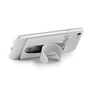 Kapsa na kartu k připevnění na mobil, bílá
