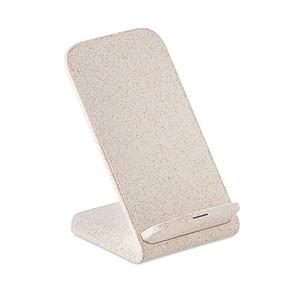Nabíjecí stojánek na mobil, vyrobený z pšenice a plastu