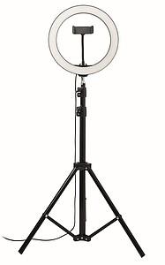 LED kruhové světlo 26cm, černá