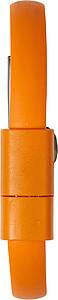 CHORATO Silikonový náramek s dobíjecím kabelem, oranžový