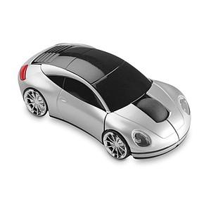 Bezdrátová myš ve tvaru auta, stříbrná