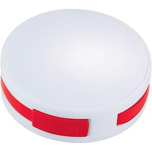 Kulatý USB Hub, bílá/červená