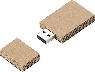 Kartonový USB flash disk 16GB