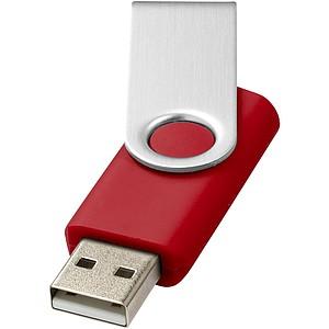 Základní USB Rotate, 4GB, cena na vyžádání, stříbrná/červená