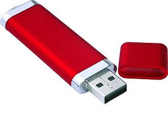 LOTUS USB flash disk se šňůrkou, kapacita 8GB, červená, potisk bílá