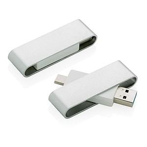 USB typuC Pivot, stříbrná, 8GB
