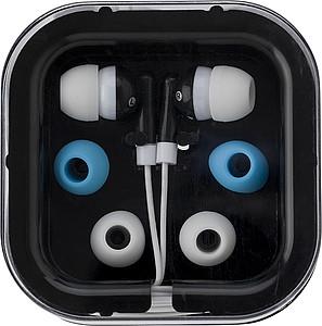 PEPA Sluchátka s náhradními gumičkami v černé plastové krabičce
