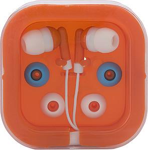 PEPA Sluchátka s náhradními gumičkami v oranžové krabičce