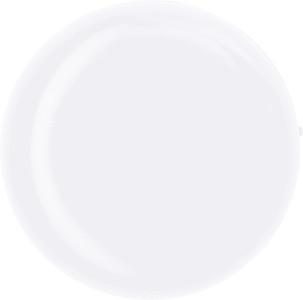 Sluchátka v bílé transparentní plastové kulaté krabičce