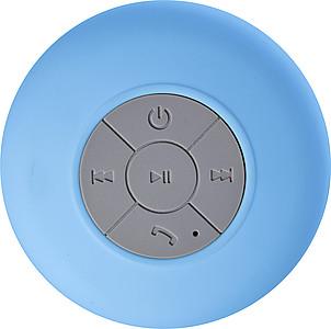 Plastový Bluetooth reproduktor odolný proti vodě, modrá