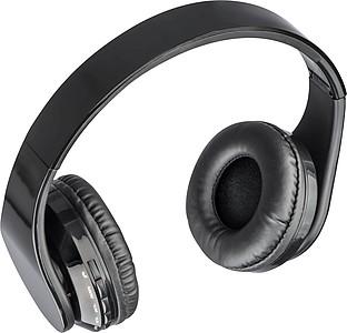 Velká černá skládací bezdrátová sluchátka