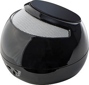 Kulatý bluetooth reproduktor, černý