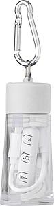 Bluetooth sluchátka v balení se stojánkem na mobil , bílá