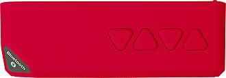 Plastový bezdrátový reproduktor, červený