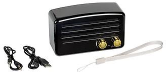 Bezdrátový reproduktor v retro stylu