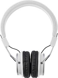 Bezdrátová skládací sluchátka, bílá