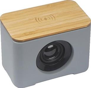 Bluetooth reproduktor a indukčnínabíječka,šedá