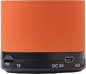 Kovový bezdrátový reproduktor, oranžový