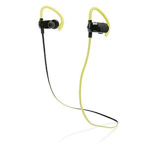 Bezdrátová Bluetooth sportovní sluchátka, černá/limetková