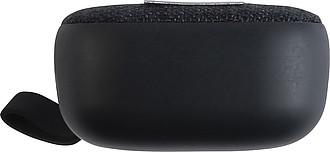 Malý bezdrátový reproduktor s poutkem, černý