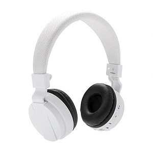 Skládací bluetooth sluchátka, bílá