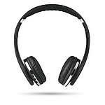 Skládací Bluetooth sluchátka z ABS. Nabíjecí Li-Ion 250 mAh, černá