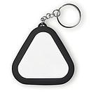 PVC sluchátka v trojúhelníkové klíčence ze silikonu a ABS plastu, černá