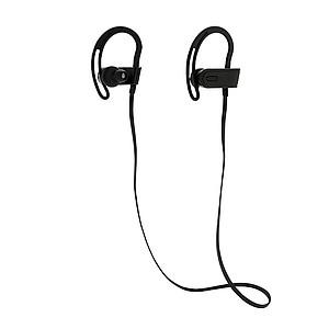 Bezdrátová sportovní sluchátka, černá