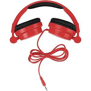 Stylová skládací sluchátka, světle červená