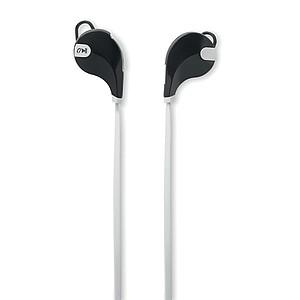 Bezdrátová stereo sluchátka se zabudovaným mikrofonem, bílá