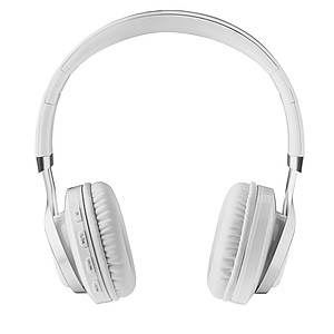 Bezdrátová bluetooth sluchátka, bílá