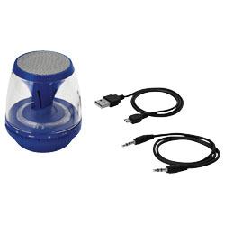 Bluetooth reproduktor s LED světlem, tmavě modrá