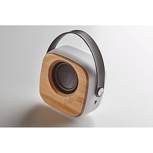 SASUOL Bezdrátový reproduktor s uchem a bambusovým krytem