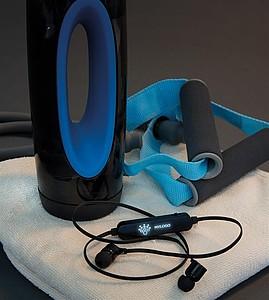 Light up bezdrátové sluchátka do uší, černá