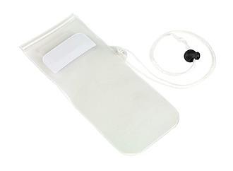 Transparentní obal na mobil s bílou šňůrkou na krk
